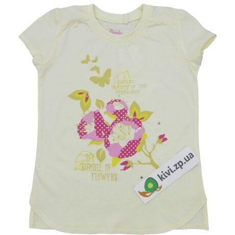 купить фб382 бемби футболку молочную
